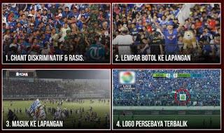 Bukti-Bukti Pelangaran Berat Aremania di Laga Arema FC vs Persebaya
