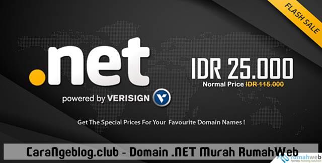 Promo Domain .NET Murah Rp.25.000 dari RumahWeb, Promo Domain Murah RumahWeb Oktober 2016, Domain .NET  Rp.25.000