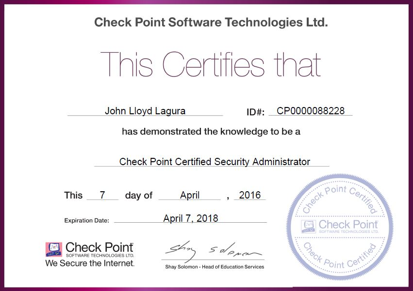 My Check Point CCSA Journal: Site-to-Site IPsec VPN between Check ...