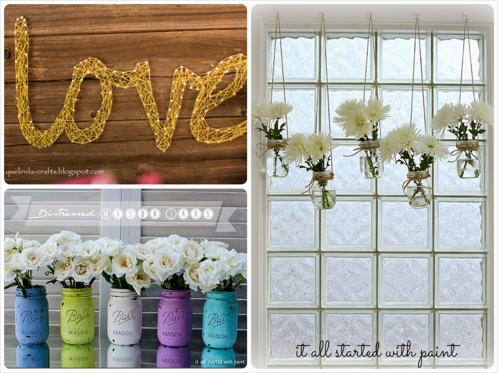 Tutoriales de decoración DIY para adornar en casa, fiestas o celebraciones. DIY home decor