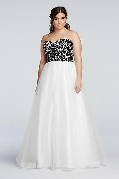 Davids Bridal Signature Prom Dress Black White You Might Also Like