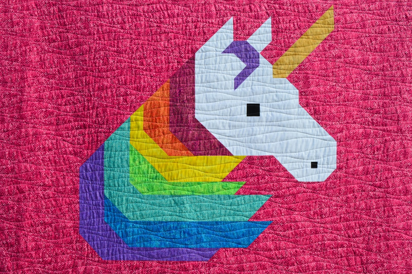 Sew Fresh Quilts Rainbow Unicorn Twin Size Quilt