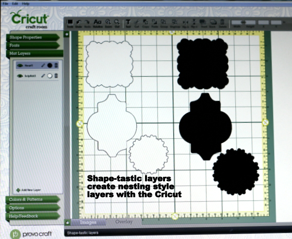 Inkingpink How To Create Nested Style Shapes With The Cricut