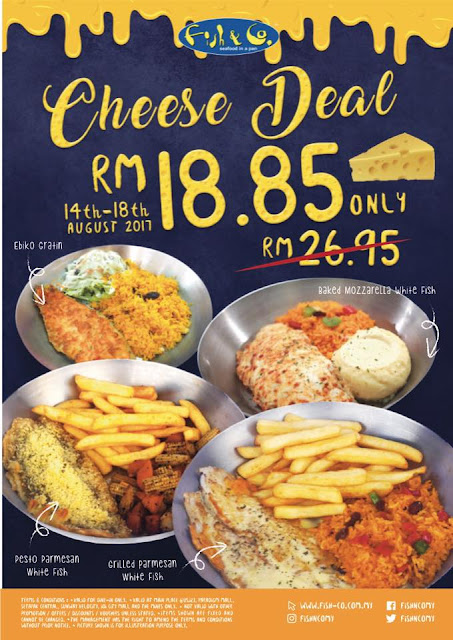Fish & Co. Cheese Deal RM18.85 Discount Promo