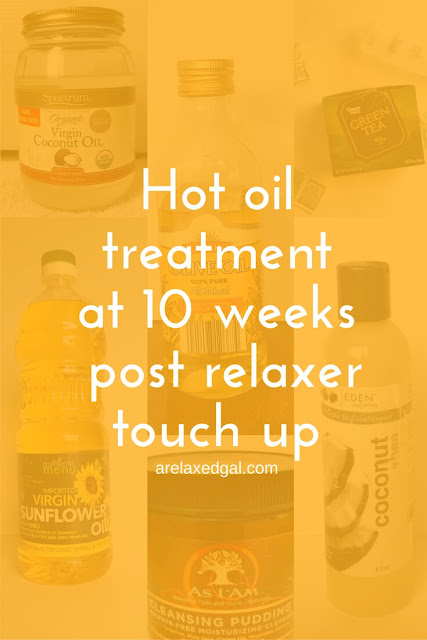 I did a hot oil treatment and attempted a braid out on my relaxed hair during my wash day at 10 weeks post my 8/9/14 relaxer touch up. See the results. | arelaxedgal.com