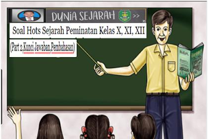 Soal Hots Sejarah Peminatan Kelas X, XI, XII. (part 2)
