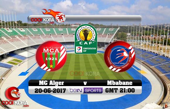 مشاهدة مباراة مولودية الجزائر وامبابان سوالوز اليوم 20-6-2017 كأس الإتحاد الأفريقي