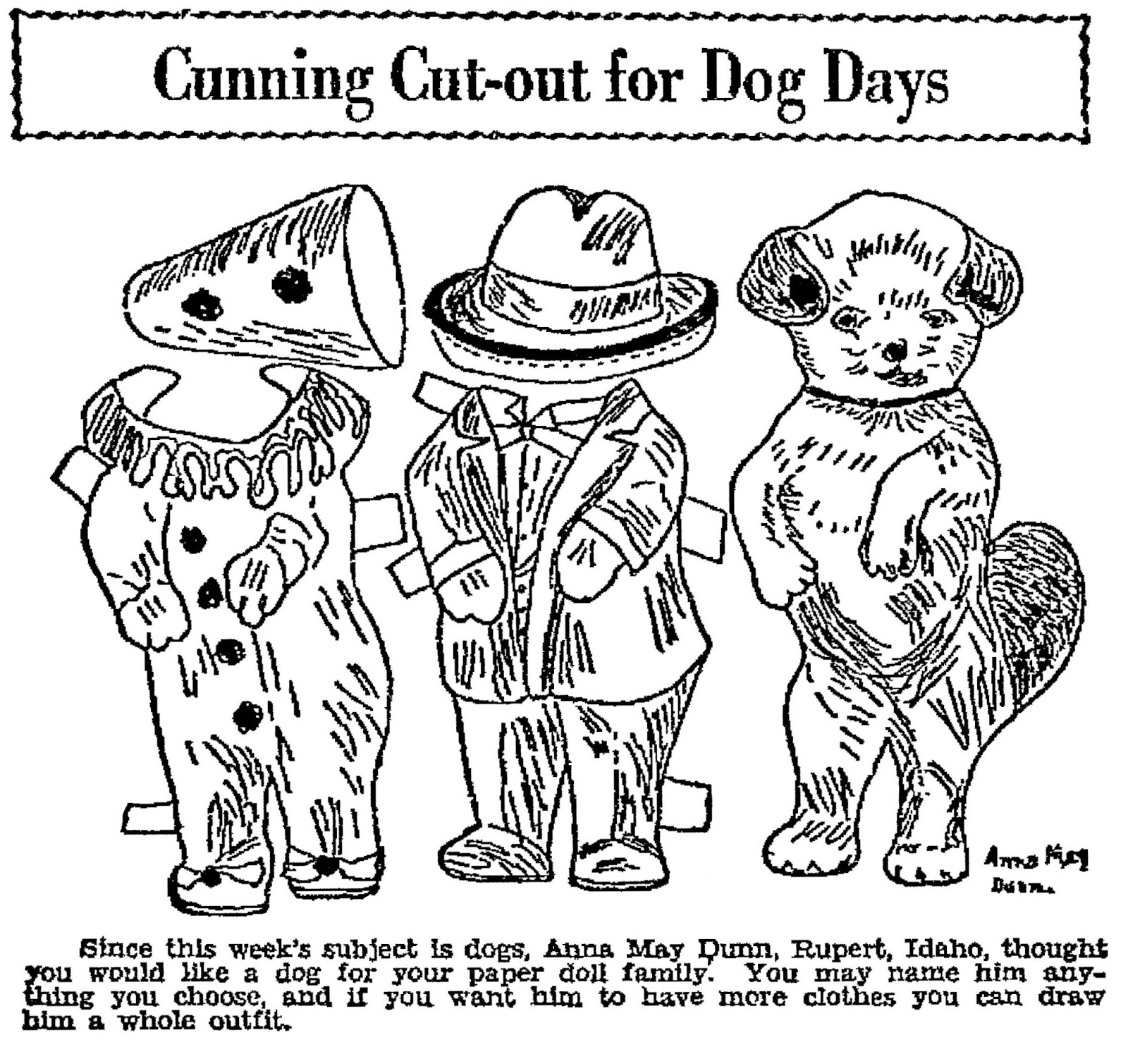 Mostly Paper Dolls Too!: Cunning Cut-Out for Dog Days