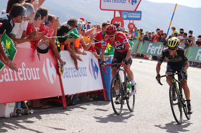 Chavez and Chris Froome at the Meta at the 2017 Stage in Sierra Nevada, Granada for La Vuelta 2017