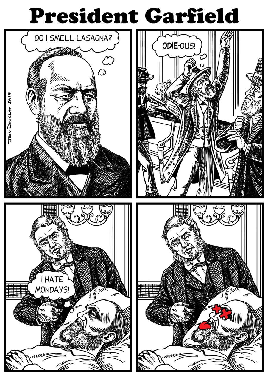 The John Douglas Mostly Comic Book Art Site President S Day Garfield