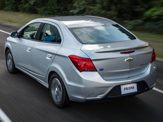 Chevrolet Prisma no nanking de carros mais vendidos do Brasil