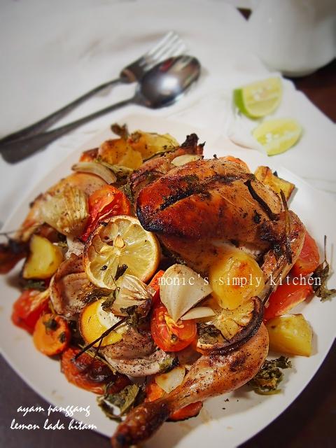 resep ayam panggang lemon lada hitam
