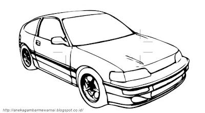 Gambar Mewarnai Mobil (1)