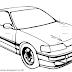 Gambar Mewarnai Mobil Untuk Anak PAUD dan TK