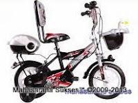 3 Sepeda Anak Evergreen EG1245 Future Cop dengan Sandaran 12 Inci