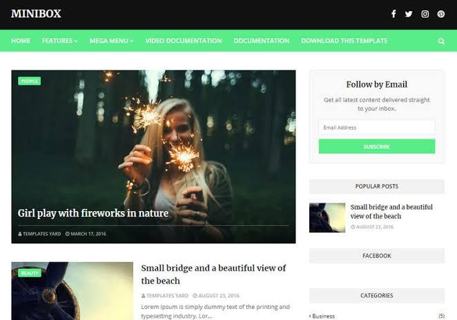 Download MiniBox Responsive Blogger Template