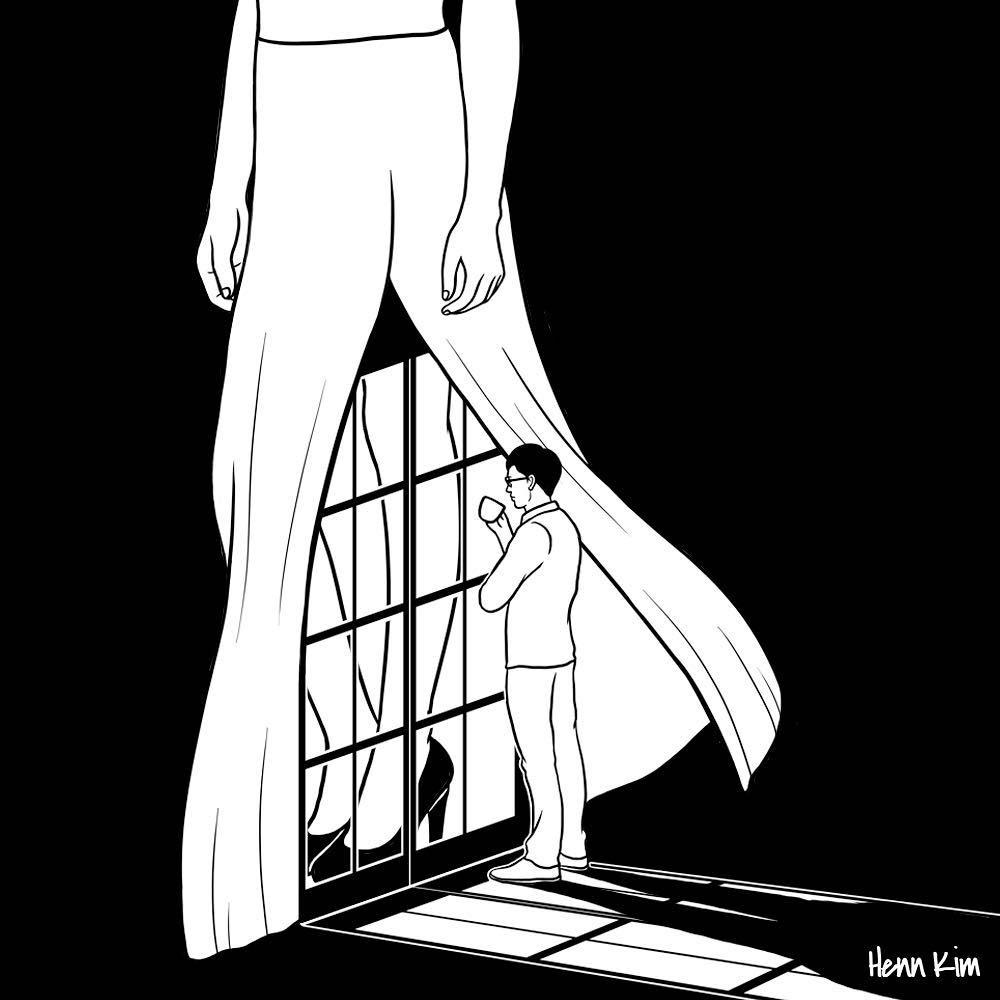 04-Vision-of-you-Henn-Kim-Surrealism-Black-and-White-Symbolic-Illustrations-www-designstack-co