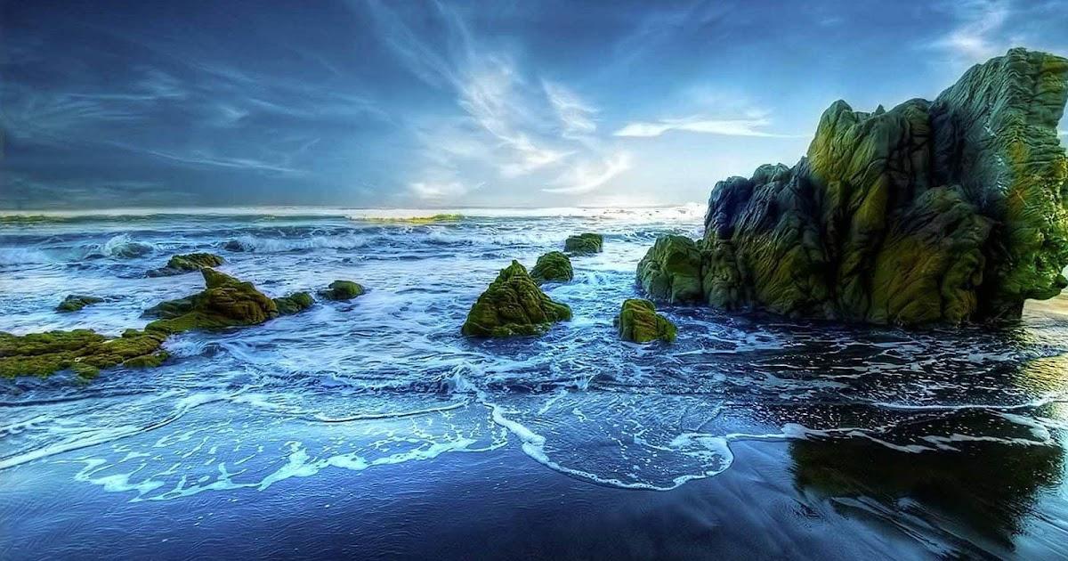 wallpaper: Rocky Beach Desktop Wallpapers
