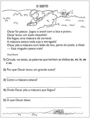 Atividades Portugues 2º Ano Para Imprimir So Escola
