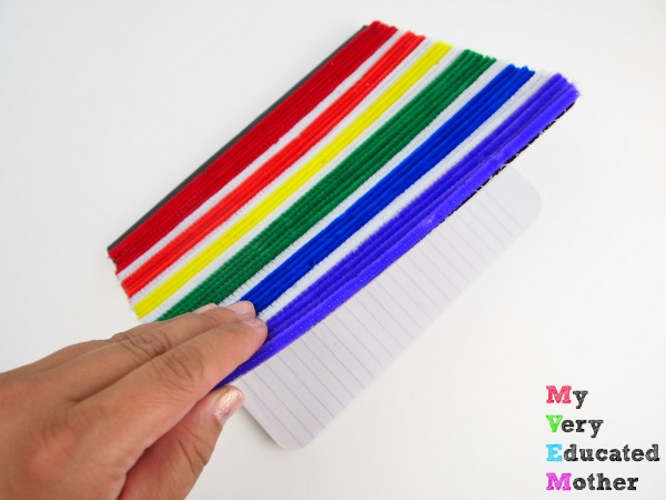 DIY Fuzzy Pipe Cleaner Notebook