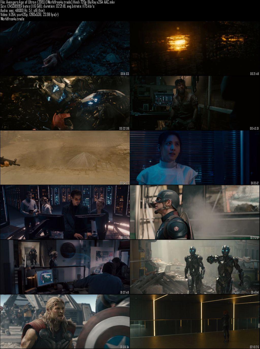 ScreenShot of Avengers: Age of Ultron (2015) BRRip 720p Dual Audio