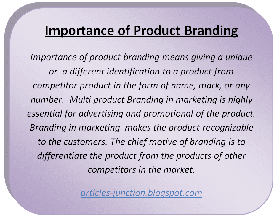 Importance of Product Branding