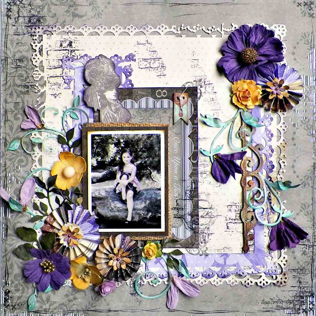 Once Upon A Time Layout by Lisa Novogrodski for BoBunny using Penny Emporium