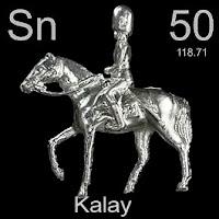 Kalay elementi üzerinde kalayın simgesi, atom numarası ve atom ağırlığı.