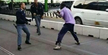 Black man Beat up Two London Policemen