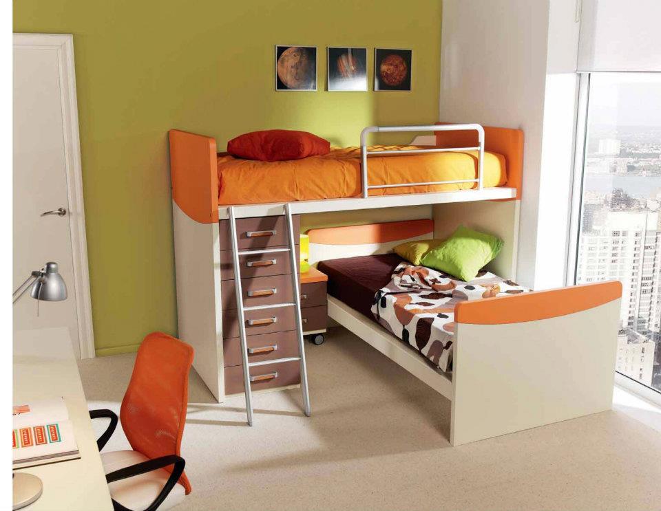 Dormitorios juveniles economicos - Habitaciones infantiles 2 camas ...