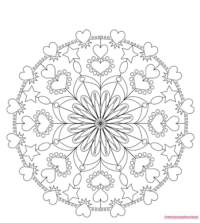 Färbung Burgen kostenlos Mandala Malvorlagen - Free Mandala