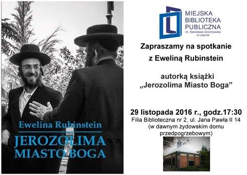 Zaproszenie na spotkanie autorskie z Eweliną Rubinstein w Lesznie