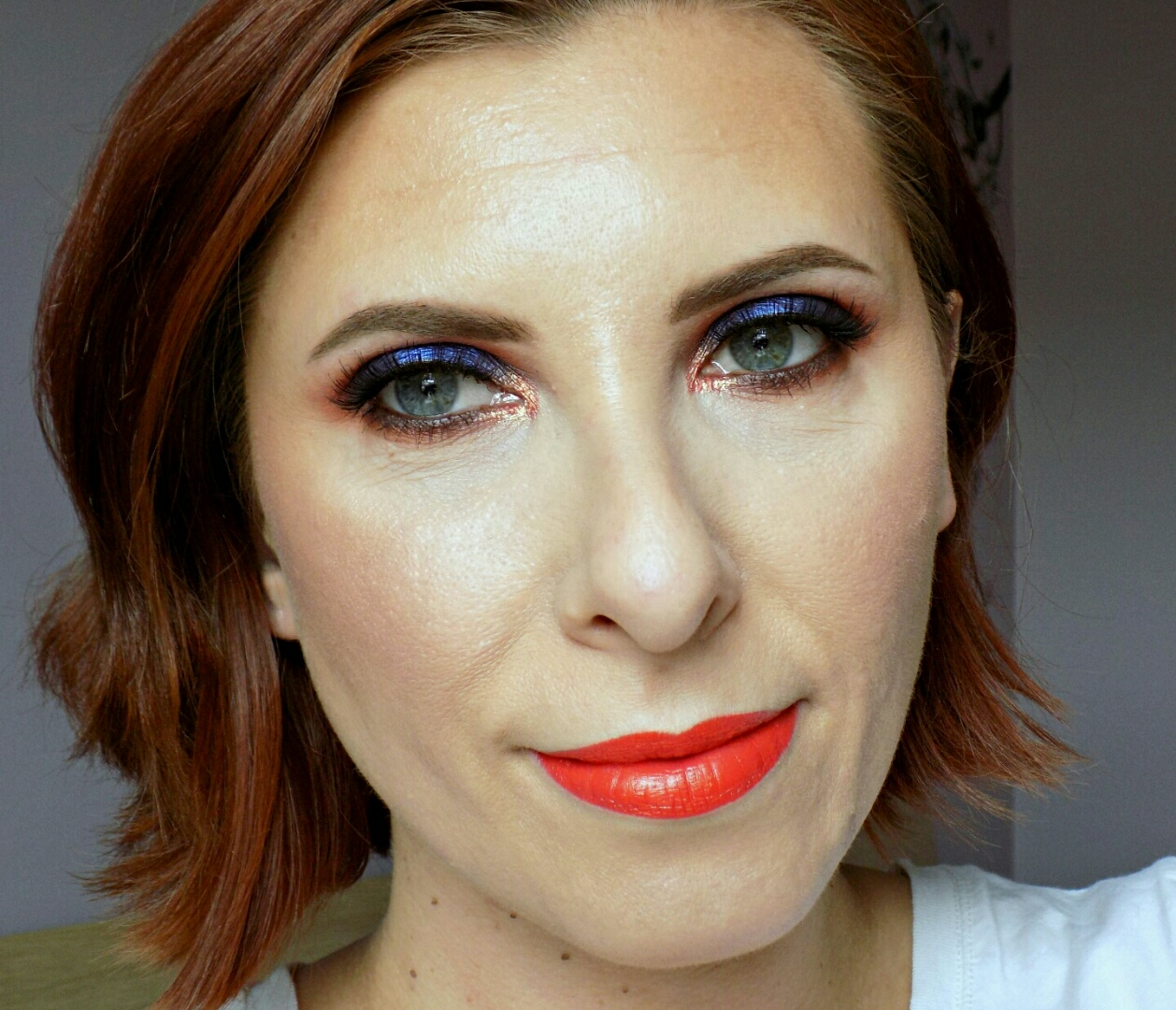 blues & oranges, fun Summer makeup look