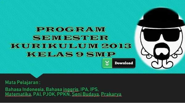 Program Semester (PROSEM/PROMES) Kurikulum 2013 SMP Kelas 9 (Lengkap)