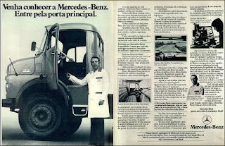 propaganda caminhão Mercedes-Benz – série 1519 - 1976, Mercedes-Benz do Brasil anos 70, Mercedes-benz década de 70, caminhão mercedes, Oswaldo Hernandez, Mercedinho 76,