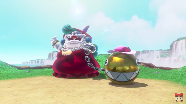 Super Mario Odyssey fat Broodle female golden Chain Chomp