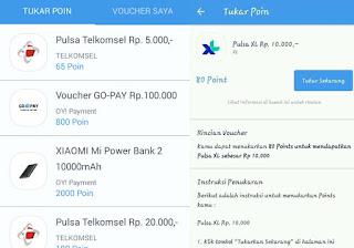 Penukaran Pulsa Gratis di Aplikasi Oy Indonesia