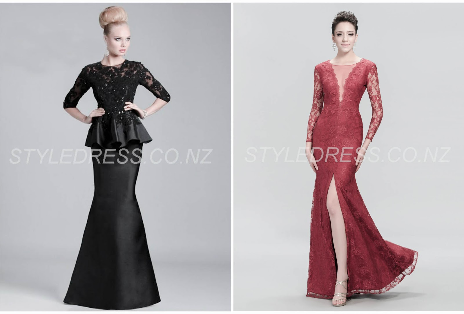 Tauranga Scoop 1/2 Sleeves Beading Floor-length Glorious Dresses