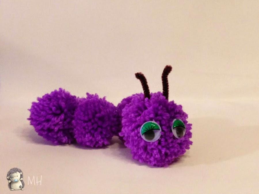 gusano de pompones