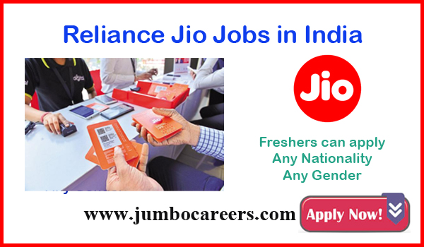 Urgent Indian jobs, Reliance Jio latest jobs for freshers,