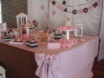 Resultado de imagem para decoração festa marrom rosa detalhes inspirações