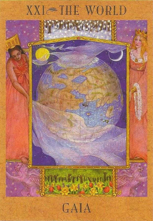Tarot da Deusa Carta 21 - Gaia