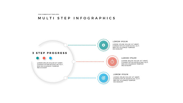 34 Step Circular Progress Infographics for PowerPoint Templates in White Background