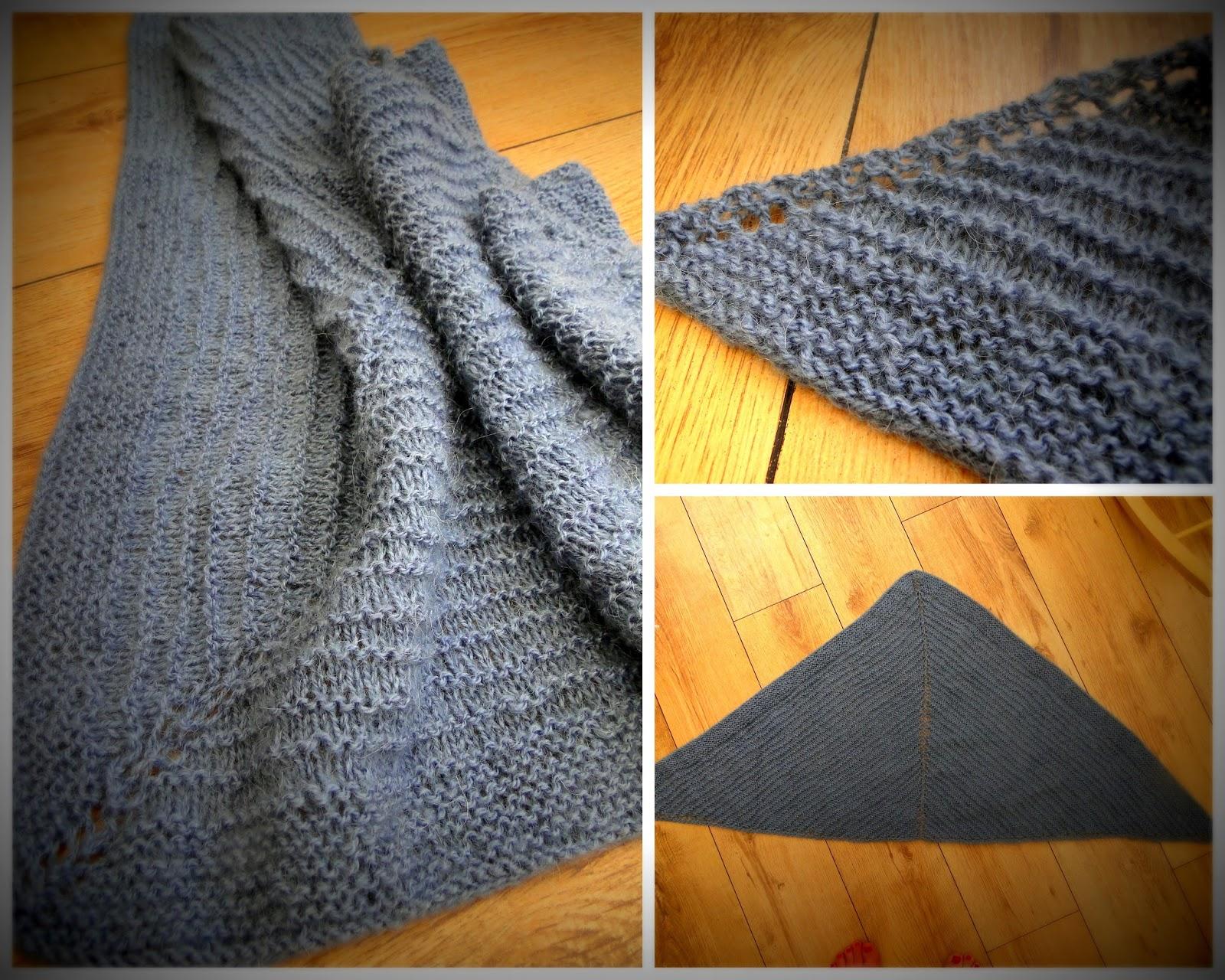 3 Rabbits Patterns: Very easy FREE Shawl knitting pattern