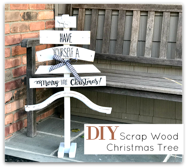 DIY Scrap Wood Merry Little Christmas Tree