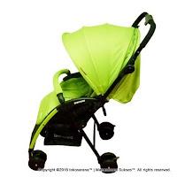 Kereta Bayi BabyDoes CH-818 L Easylite Hadap Depan Belakang - Green