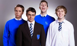 The four lead actors from TV show The Inbetweeners