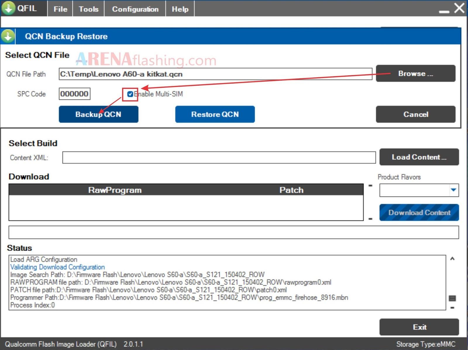 Tutorial Backup Restore File QCN Lenovo S60-a - Tutorial