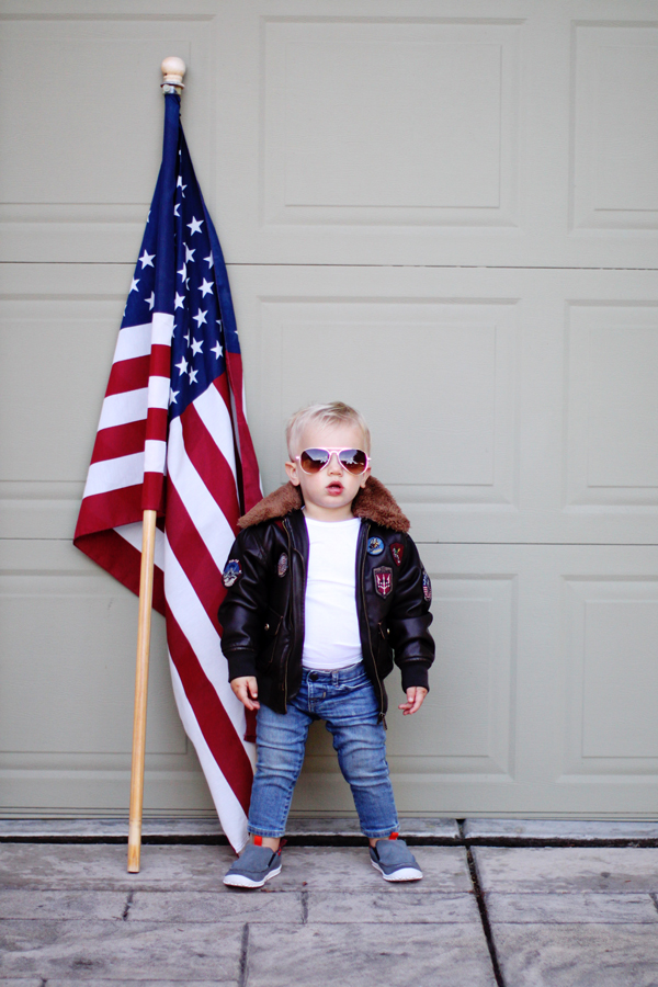 Toddler Halloween costume: Top Gun Mini Maverick