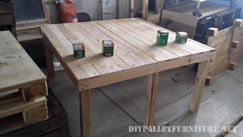 mesa de comedor hechas con tarimas
